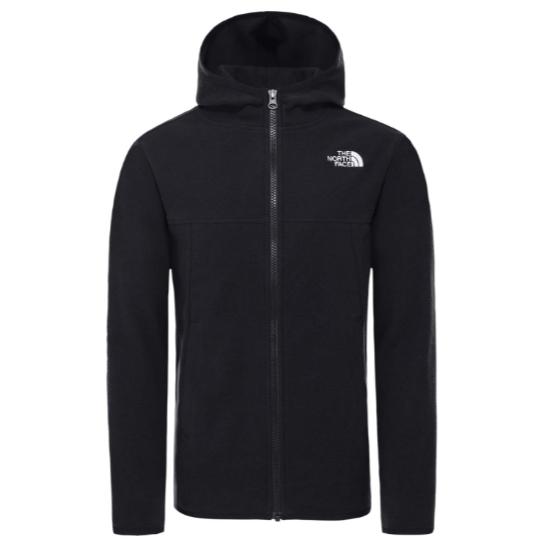 The North Face Glacier Full Zip Fleece Jacket Boy - Tnf Black