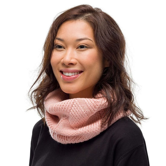 Buff Knitted Neckwarmer - Photo of detail