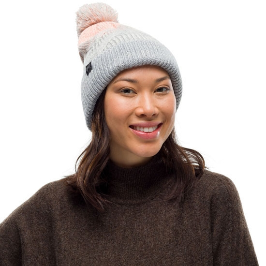 Buff Knitted Hat - Photo of detail