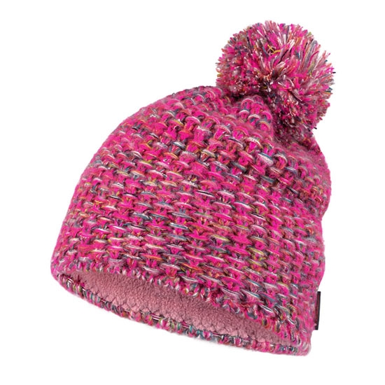 Buff Knitted Hat - Grete Pink