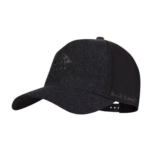 Buff Snapback Cap - Mount Everest Black