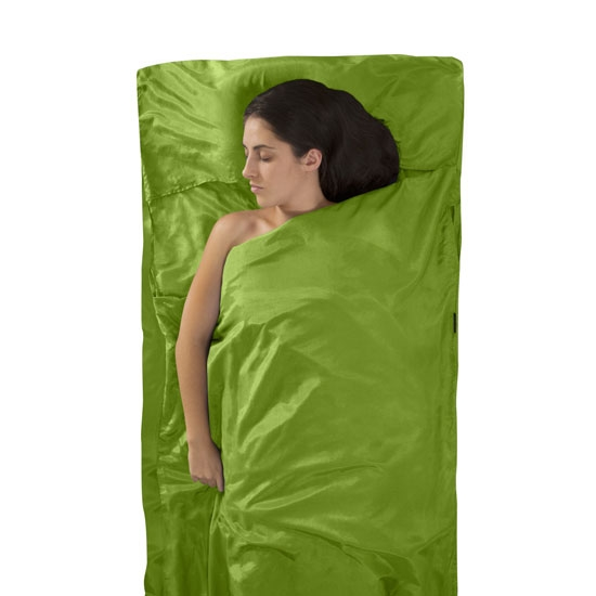 Sea To Summit Silk + Cotton Travel Liner + Pillow - Green