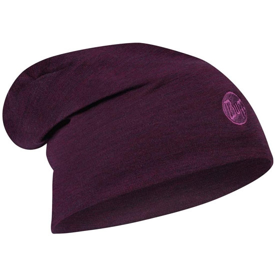 Buff Heavyweight Merino Wool Hat - Purplish Multi Stripes