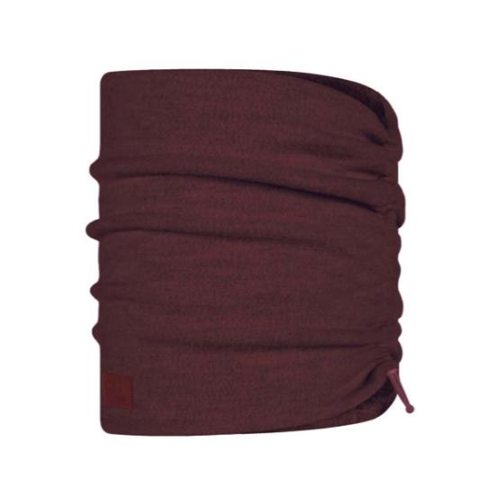 Buff Merino Wool Neckwarmer - Maroon