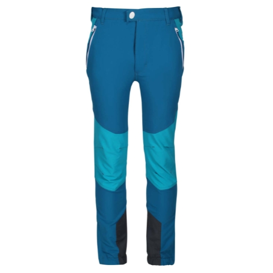 Regatta Tech Mountain Pant Jr - Dark Methyl/Freshwater Blue