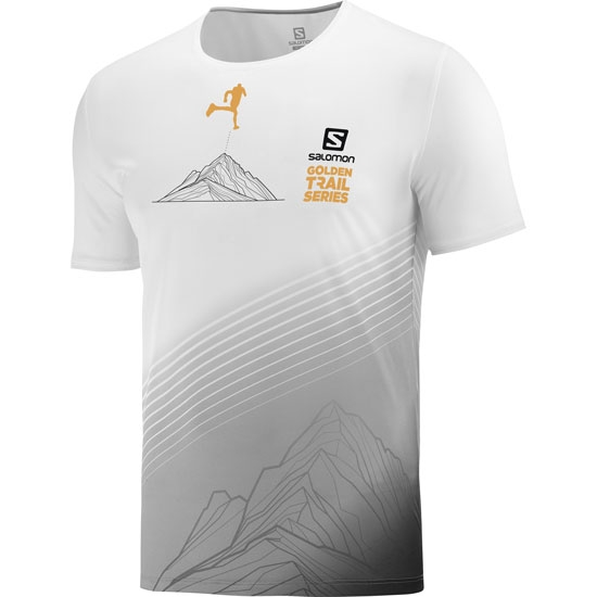 Salomon Sense Tee - White/Black/Autumn Blaze