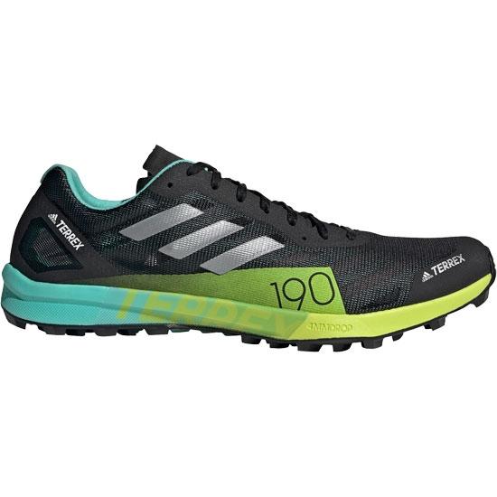 Adidas Terrex Speed Pro - Core Black / Matte Silver / Solar Yellow