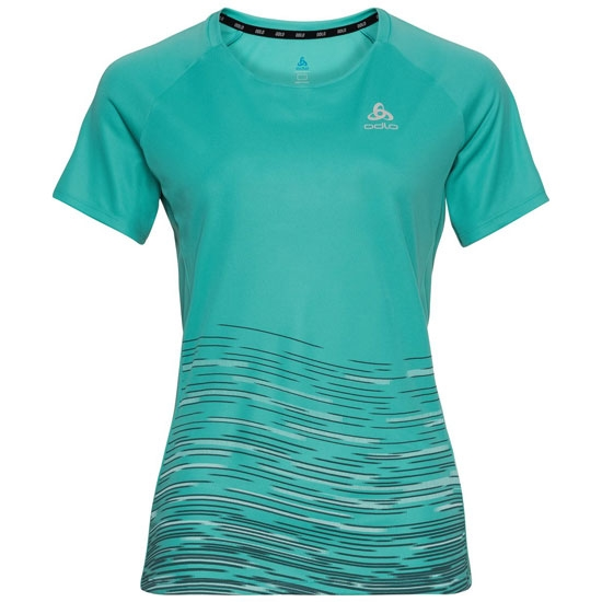 Odlo W T-Shirt SS Crew Essential Imprimé - Jaded