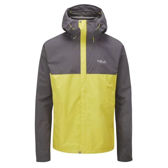 Rab Downpour Eco Jacket - Graphene/Zest