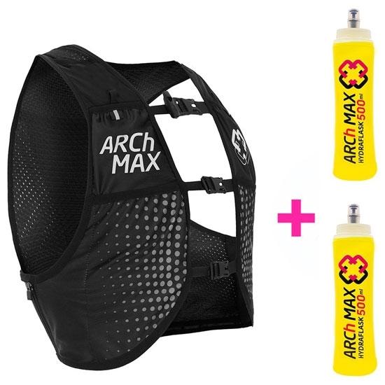 Arch Max Hydration Vest 8L + 2 SF 500 ml - Black