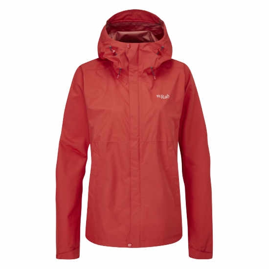 Rab Downpour Eco Jacket W -  Ascent Red