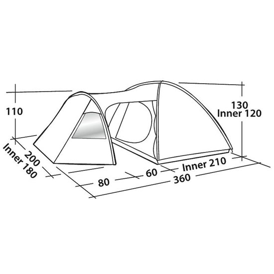 Easy Camp Eclipse 300 - Photo of detail
