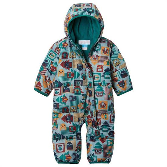 Columbia Snuggly Bunny Bunting - Pine Green Critter