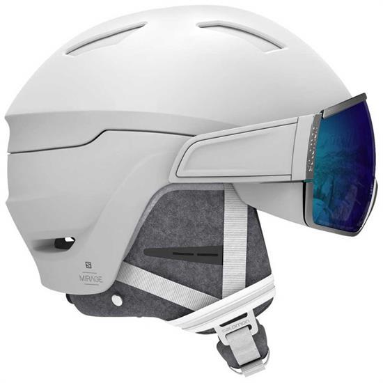 Salomon Helmet Mirage+ White/Blue Solar -