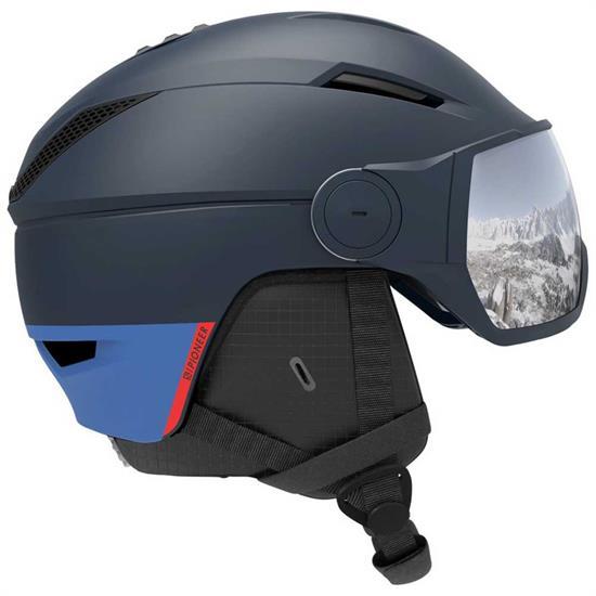 Salomon Helmet Pioneer Visor Dressblu/Sil Uni -