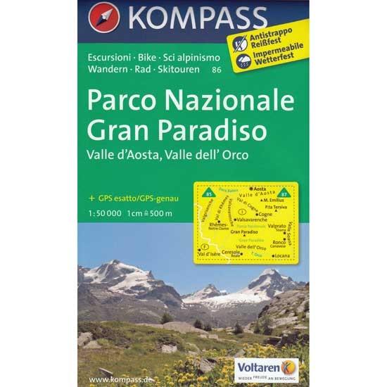 Ed. Kompass Gran Paradiso. Valle d´Aosta -