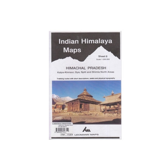 Ed. Leomann Maps Pu. Mapa Indian Himalaya 6-Himachal Prades -