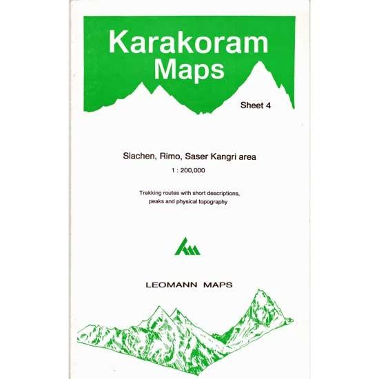 Ed. Leomann Maps Pu. Map Karakoram-4 Siachen Rimo Saser Ka -