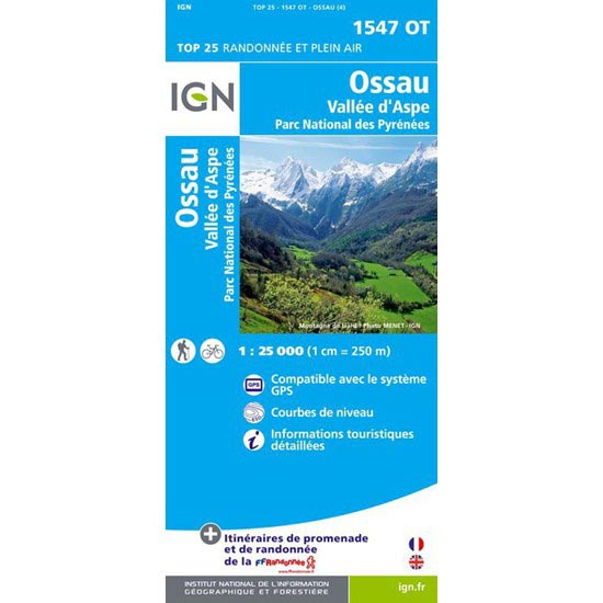 Ed. Ign France Ossau, Vallée d'Aspe -