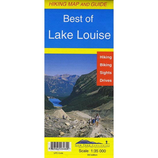 Ed. Gem Trek Publishing Mapa Lake Louise (Best Of) 1:35000 -