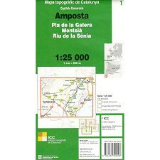 Icc (catalunya) Mapa Amposta - Montsia 1:25000
