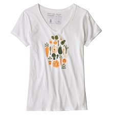 Patagonia Harvest Haul Organic V-Neck T-Shirt W