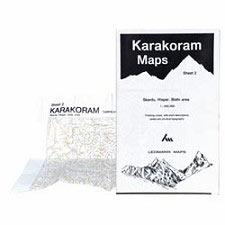 Ed. Leomann Maps Pu. Karakoram Maps - Sheet 2 : Skardu, Hispar, Biafo