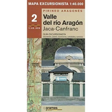 Ed. Prames Mapa Valle de Aragón 1:40000
