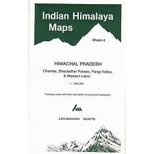Ed. Leomann Maps Pu. Mapa Indian Himalaya 4 - Himachal Pradesh