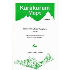 Ed. Leomann Maps Pu. Mapa Karakoram-4 Siachen Rimo Saser Ka