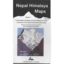 Ed. Leomann Maps Pu. Carte Nepal Himalaya 1-Far West Nepal