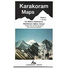 Ed. Leomann Maps Pu. Carte Karakoram 3-k2, Baltoro, Gasherbrum