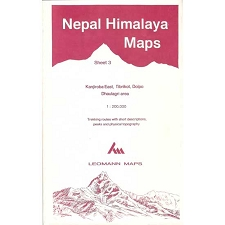 Ed. Leomann Maps Pu. Carte Nepal Himalaya 3-Kanjiroba East