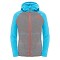 The North Face B Glacier Full Zip Hoodie - Heather Grey/Meridian Blue