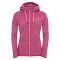 The North Face Mezzaluna Full Zip Hoodie W - Paspberry Rose Stripe