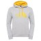 The North Face M Drew Peak Pullover Hoodie - Heather Grey/TNF Yellow