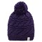 The North Face Triple Cable Pom Beanie - Garnet Purple