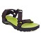 The North Face Litewave Sandal - TNF Black/Macaw Green