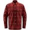 Haglöfs Tarn Flannell Shirt Men - Maroon Red/Brick