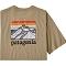 Patagonia Line Logo Ridge Pocket Responsibili-Tee - Classic Tan