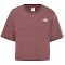 The North Face Cropped Simple Dome Tee W - Marron Purple