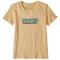 Patagonia Pastel P-6 Logo Organic Crew T-Shirt W - Vela Peach