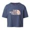 The North Face Cropped Easy Tee W - Vintage Indigo-Evening